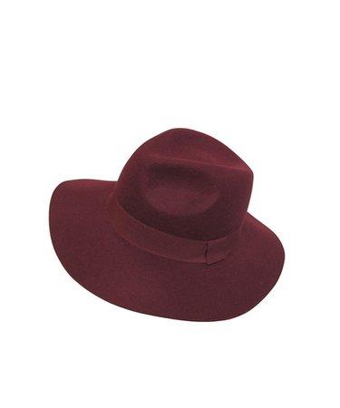 Wool Felt Safari Hat - Burgundy – She She Shoes