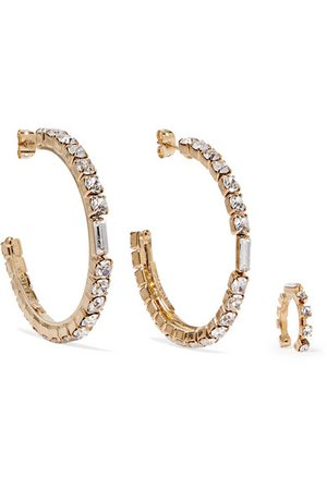 Rosantica | Luci gold-tone crystal earrings and ear cuff | NET-A-PORTER.COM