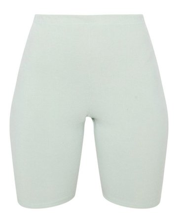 mint ribbed cycling shorts plt