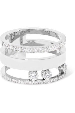Messika | Move Romane Large 18-karat white gold diamond ring | NET-A-PORTER.COM