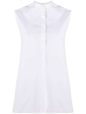 Mandarin Collar Sleeveless Blouse