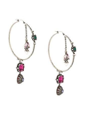 Alexander McQueen Embellished Hoop Earrings - Farfetch