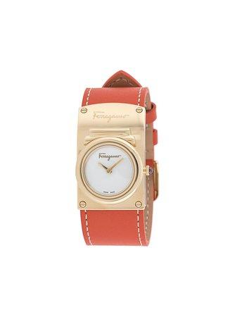 Salvatore Ferragamo Watches Boxyz round-face Watch orange