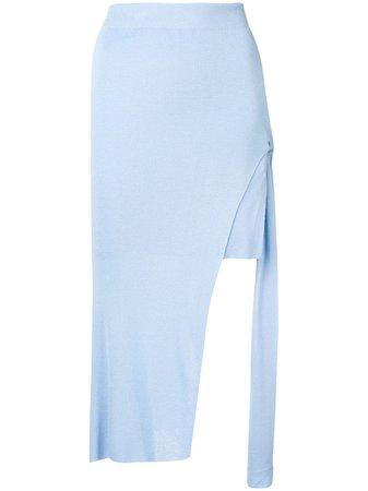 Jacquemus Light Blue Draped Skirt - Farfetch