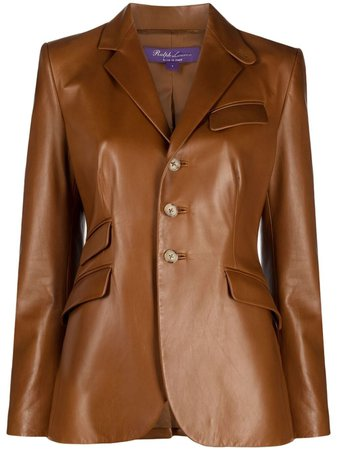 Ralph Lauren Collection Fitted single-breasted Leather Jacket - Farfetch
