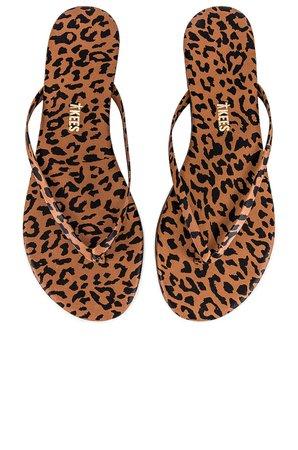 TKEES Studio Exotic Sandal in Nubuck Cheetah   REVOLVE