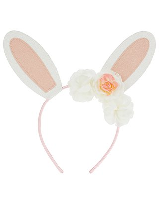 Bunny Ears Alice Hair Band | White | One Size | 5834691000 | Accessorize