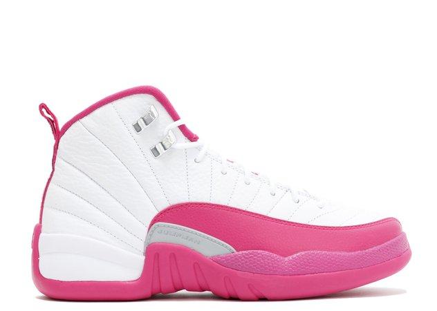 "Air Jordan 12 Retro Gg (gs) ""valentine's Day"" - Air Jordan - 510815 109 - white/vivid pink-mtllc silver | Flight Club"