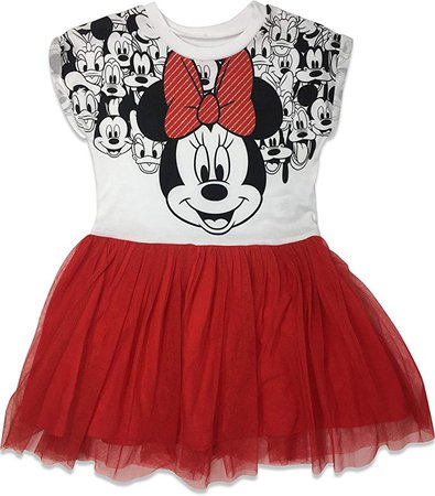 Amazon.com: Disney Toddler Girls' Minnie Mouse Tulle Dress, Blue/Pink (2T): Clothing