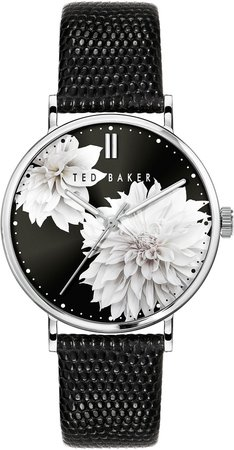 Phylipa Peonia Leather Strap Watch, 37mm