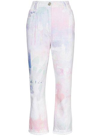 Balmain Spray Paint Cropped Jeans - Farfetch