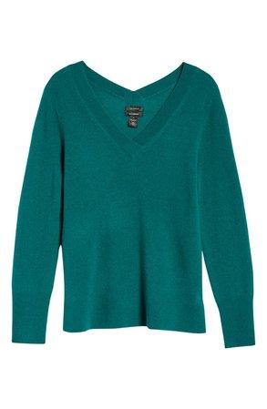 Halogen® V-Neck Cashmere Sweater | Nordstrom