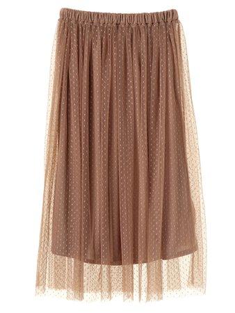 Tulle skirt brown