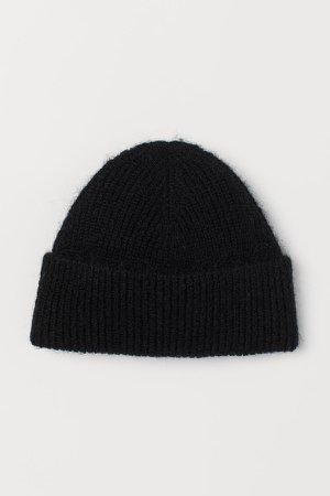 Ribbed Hat - Black