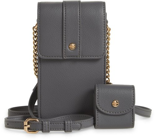 Vegan Leather Phone Crossbody Bag