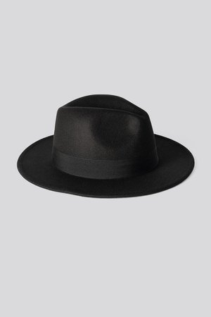 Ribbon Fedora Hat Schwarz | na-kd.com