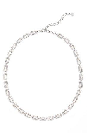 CRISTABELLE Crystal Link Collar Necklace   Nordstrom