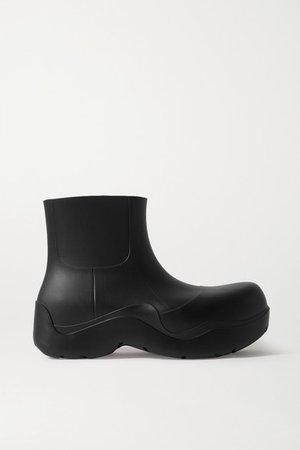 Rubber Rain Boots - Black