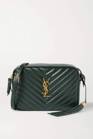 Lou Quilted Leather Shoulder Bag - Green