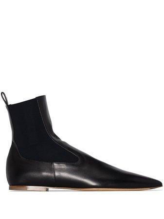 Jil Sander Leather Ankle Boots - Farfetch