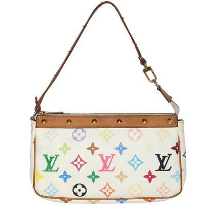 Vintage 2000s Louis Vuitton Takashi Murakami Pochette Monogram Leather - Mint Market