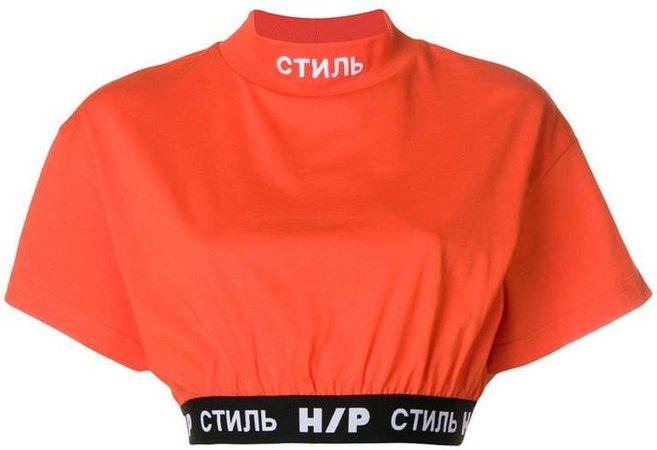 Heron Preston logo band cropped T-shirt