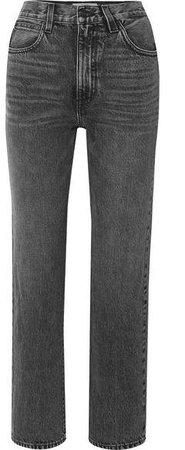 SLVRLAKE - London Cropped High-rise Straight-leg Jeans - Gray