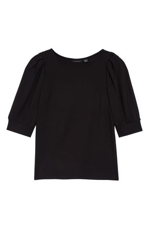 Halogen® Puff Sleeve Knit Top | black