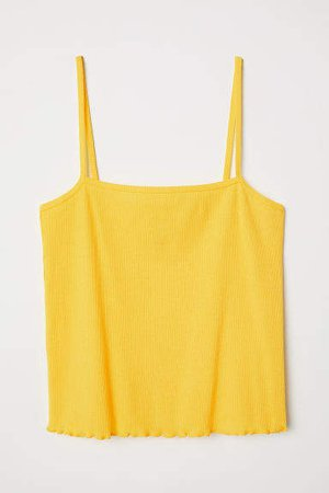 Short Camisole Top - Yellow