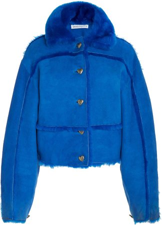 Saks Potts Kahlo Oversized Shearling Jacket