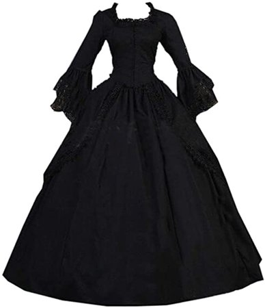 Amazon.com: I-Youth Women's Marie Antoinette Costume Black Gothic Victorian Dress Rococo Ball Gown: Clothing