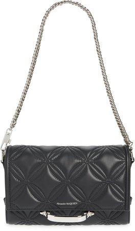 The Story Floral Quilted Leather Shoulder Bag