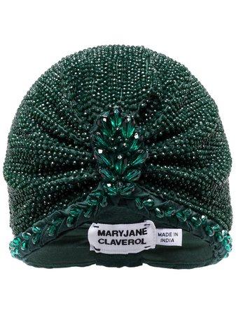MaryJane Claverol Guayana Bead Embellished Turban - Farfetch