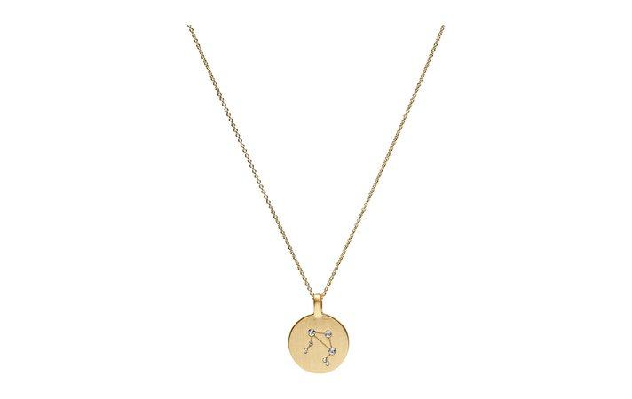Necklace - Libra (Gold Plated) (199 kr) - Pilgrim - | Boozt.com