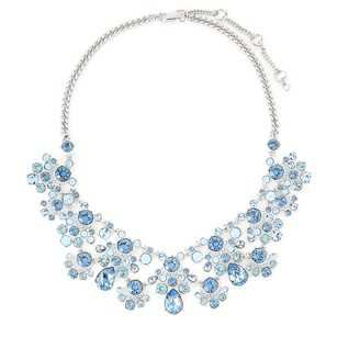 Givenchy Silver-tone & Blue Statement Necklace - Tradesy