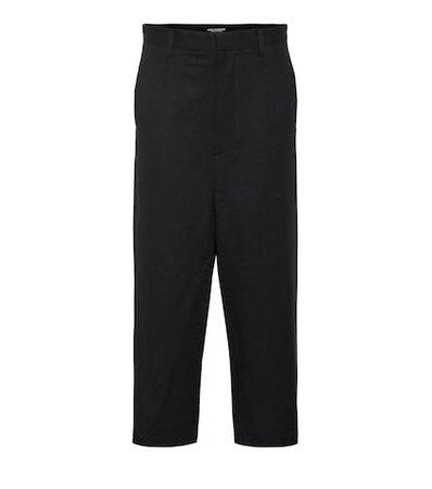 Cropped high-rise wide-leg pants