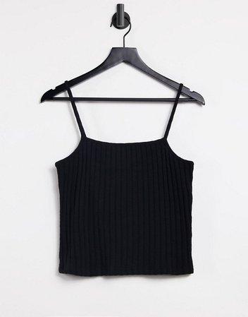 Cotton:On spaghetti strap cami in black | ASOS