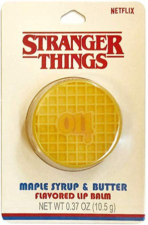 Stranger Things Taste Beauty Maple Syrup & Butter Flavored Waffle Lip Balm: Health & Personal Care