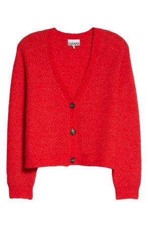 Ganni Wool Blend Boxy Cardigan | Nordstrom