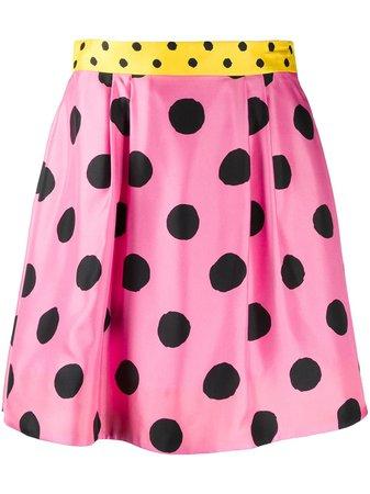 Moschino Polka Dot Skater Skirt - Farfetch