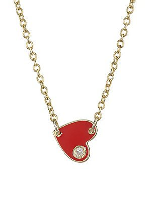 Jennifer Zeuner Jewelry - Love Charm Necklace - saks.com
