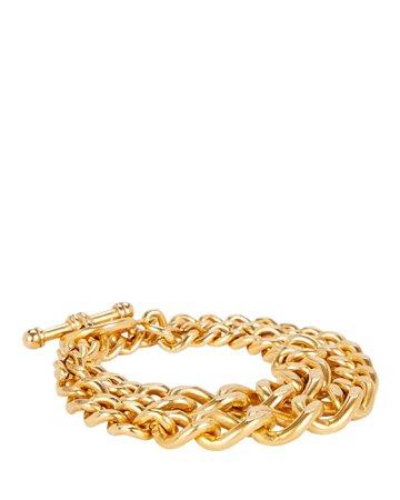 Brinker & Eliza Heavy Metal Double Wrap Bracelet   INTERMIX®