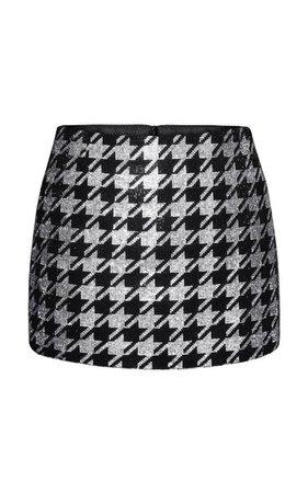 Gizele Houndstooth Mini Skirt By Nué   Moda Operandi