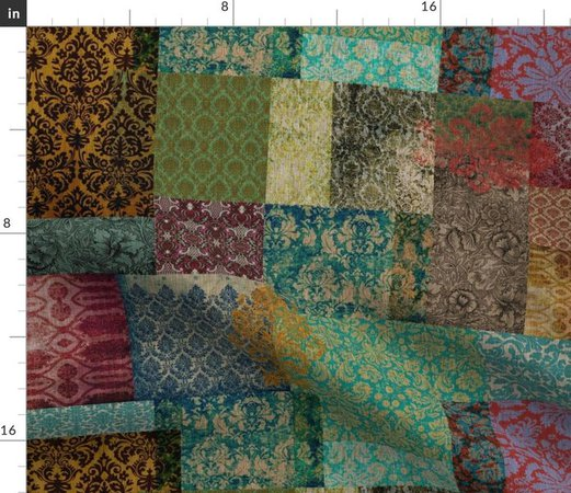 Bohemian Cheater Quilt Patchwork (in Rus - Spoonflower