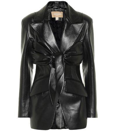 Matériel Tbilisi, Faux leather blazer