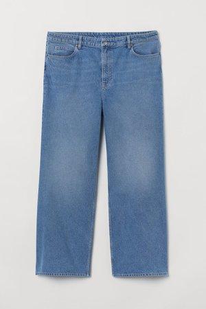 H&M+ Wide High Waist Jeans - Blue