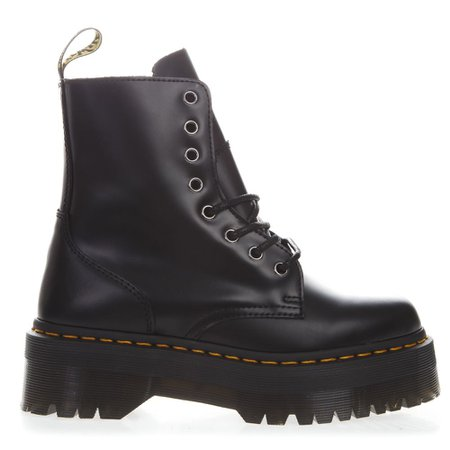 Dr. Martens Jadon Black Leather Bike Boots