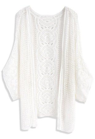 Gladness Knit Cardigan in White