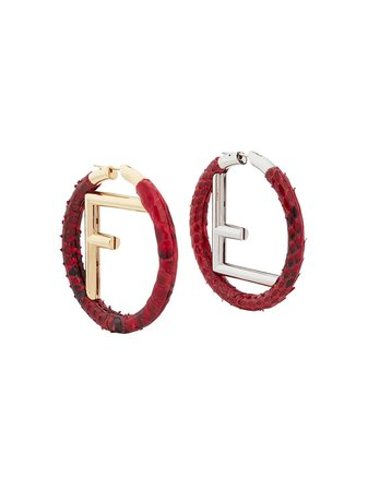 Fendi F Logo Hoops 8AG797A0O0 Red | Farfetch