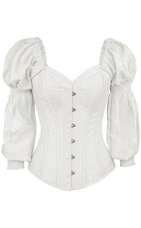 long sleeved corset shirt